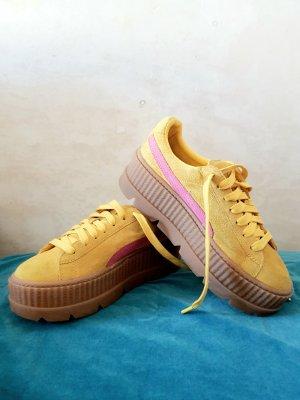 Fenty Puma Heel Sneakers yellow-pink