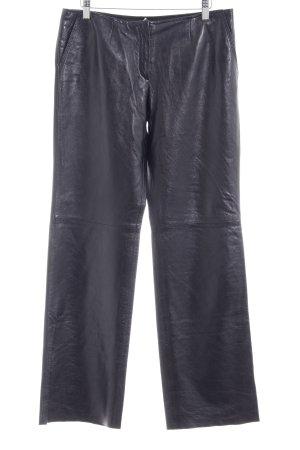 Féraud Pantalón de cuero azul oscuro