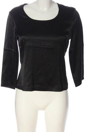Féraud Blusa de seda negro look casual