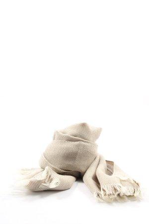 Féraud Sciarpa di lana bianco sporco stampa integrale stile casual