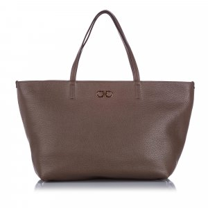 Ferragamo Bice Leather Tote Bag
