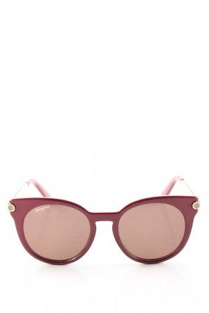 Ferragamo Butterfly Glasses red casual look
