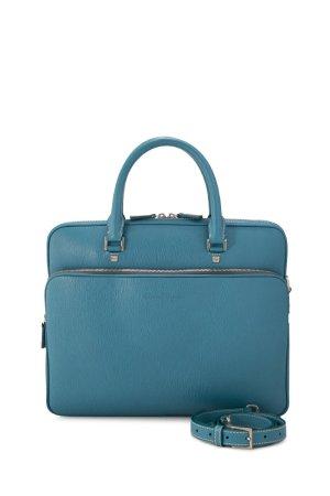 Ferragamo borsa ventiquattrore blu Pelle