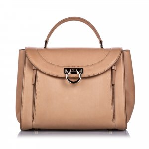 Ferragamo Satchel brown leather