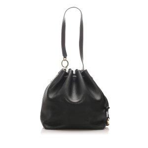 Ferragamo Drawstring Leather Shoulder Bag