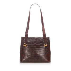 Ferragamo Embossed Leather Tote Bag