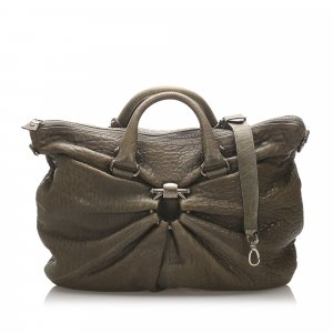 Ferragamo Embossed Leather Travel Bag