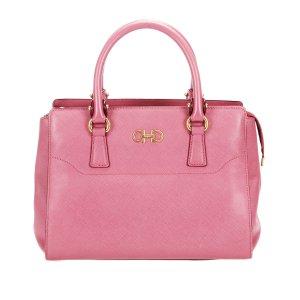 Ferragamo Gancini Beky Leather Handbag