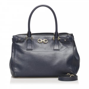 Ferragamo Gancini Beky Leather Satchel