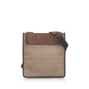 Ferragamo Gancini Canvas Crossbody Bag
