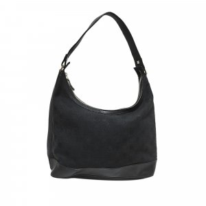 Ferragamo Gancini Canvas Shoulder Bag