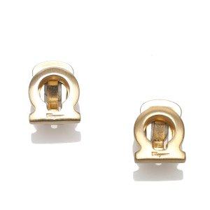 Ferragamo Boucle d'oreille doré métal