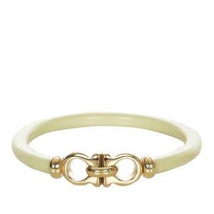 Ferragamo Bracelet blanc cuir