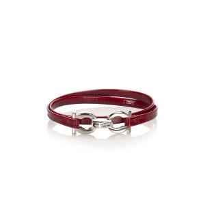 Ferragamo Gancini Leather Bracelet