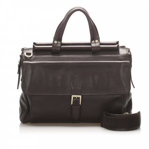 Ferragamo Gancini Leather Briefcase