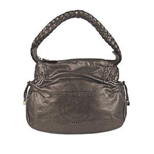 Ferragamo Gancini Leather Handbag