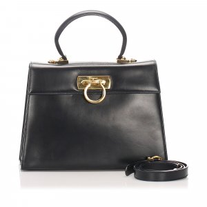 Ferragamo Gancini Leather Handbag