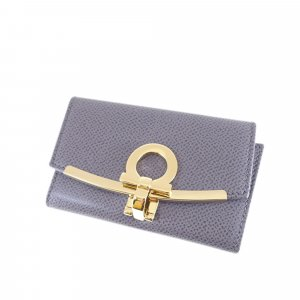Ferragamo Gancini Leather Key Holder
