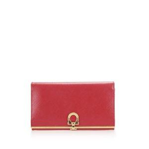 Ferragamo Gancini Leather Long Wallet
