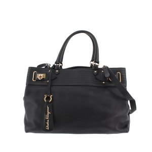 Ferragamo Gancini Leather Satchel