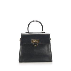 Ferragamo Gancini Leather Satchel