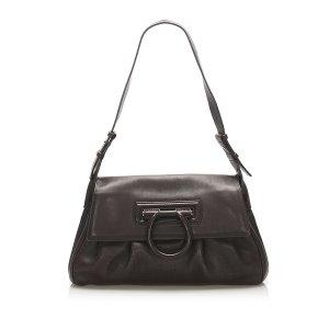 Ferragamo Gancini Leather Shoulder Bag