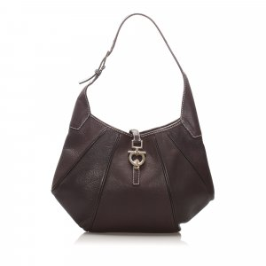 Ferragamo Gancini Leather Shoulder Bag