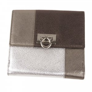 Ferragamo Gancini Leather Small Wallet