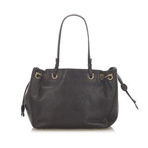 Ferragamo Gancini Leather Tote Bag