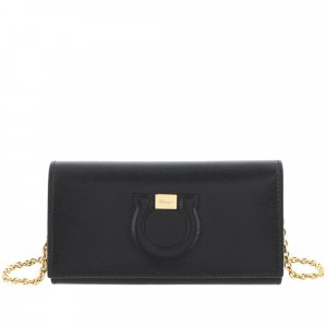 Ferragamo Gancini Leather Wallet On Chain