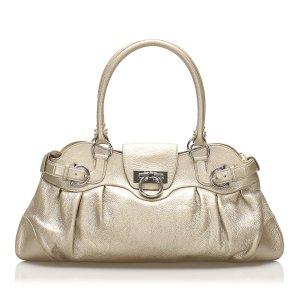Ferragamo Gancini Marisa Leather Handbag