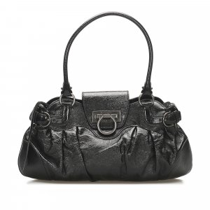 Ferragamo Gancini Marisa Leather Handbag