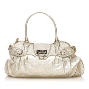 Ferragamo Gancini Marisa Leather Shoulder Bag
