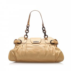 Ferragamo Gancini Marissa Leather Shoulder Bag