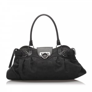 Ferragamo Gancini Nylon Shoulder Bag