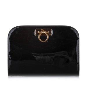 Ferragamo Gancini Patent Leather Crossbody Bag