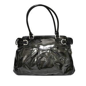 Ferragamo Gancini Patent Leather Shoulder Bag