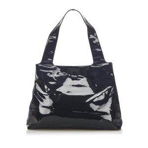 Ferragamo Gancini Patent Leather Tote Bag