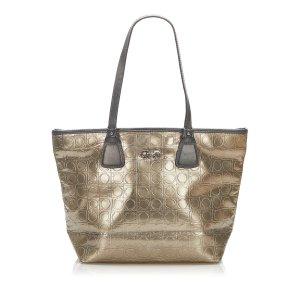 Ferragamo Tote bronze-colored imitation leather