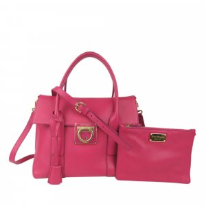 Ferragamo Gancini Sookie Leather Satchel