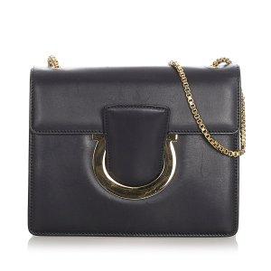 Ferragamo Gancini Thalia Leather Crossbody Bag