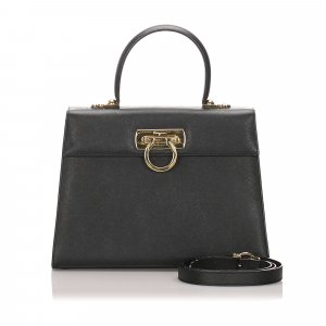 Ferragamo Leather Gancini Satchel