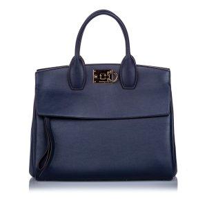 Ferragamo Satchel blue leather