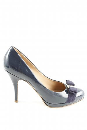 Ferragamo Mary Jane Pumps blau Elegant