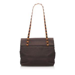 Ferragamo Nylon Chain Shoulder Bag