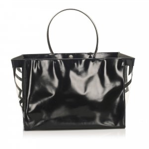 Ferragamo Patent Leather Tote Bag