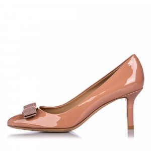 Ferragamo Patent Leather Vara Bow Pump Shoes
