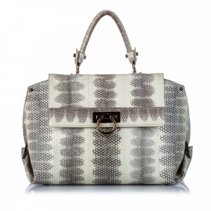Ferragamo Python Leather Sofia Handbag