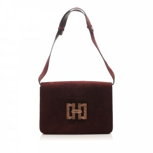 Ferragamo Suede Shoulder Bag