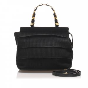 Ferragamo Tiered Grosgrain Chain Tote Bag